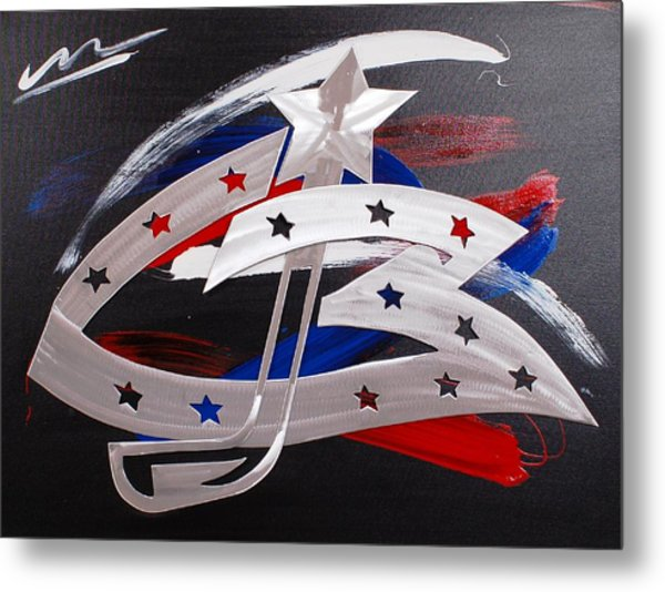 Blue Jackets Metal Print by Mac Worthington