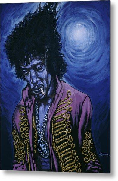 Blue Jimi Metal Print by Gary Kroman