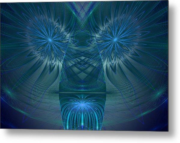 Blue Julian Vase Metal Print