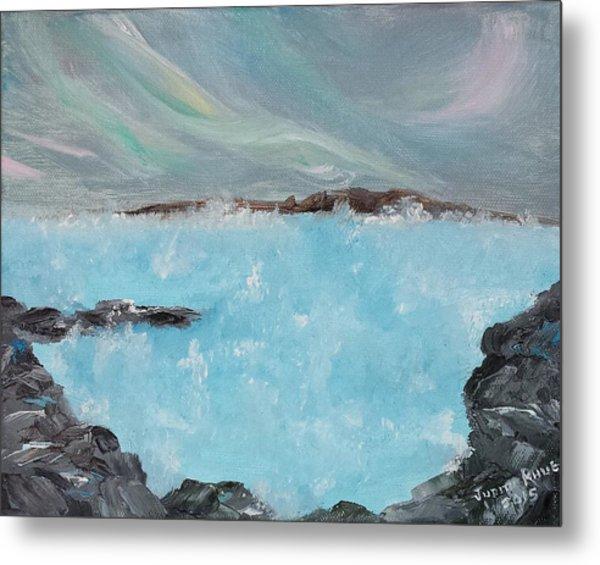 Blue Lagoon Iceland Metal Print