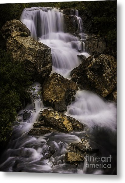 Blue Lake Falls Metal Print