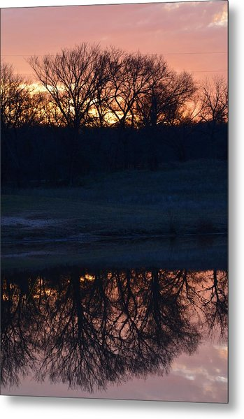 Blue Lake Sunset Xi Metal Print