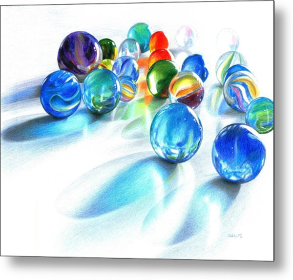 Blue Marble Reflections Metal Print