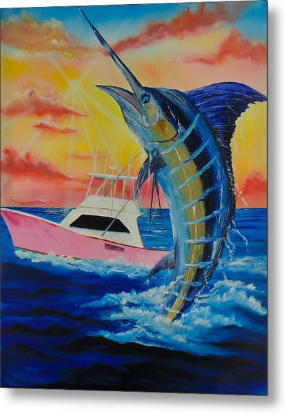 Metal Print featuring the painting Blue Marlin by Kevin  Brown