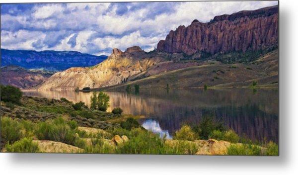 Blue Mesa Reservoir Digital Painting Metal Print