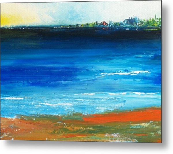 Blue Mist Over Nantucket Island Metal Print