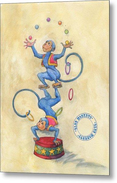 Blue Monkeys Metal Print