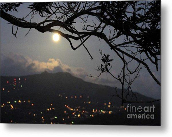 Blue Moon Over El Yunque Metal Print