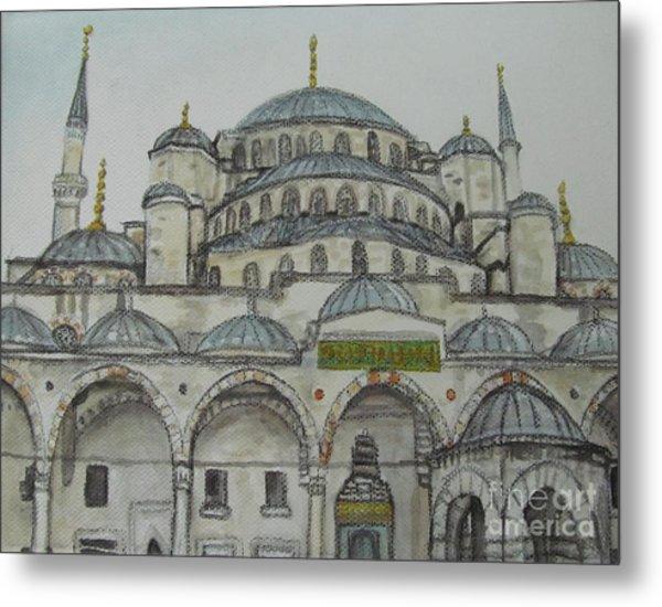 Blue Mosque Istanbul Turkey Metal Print