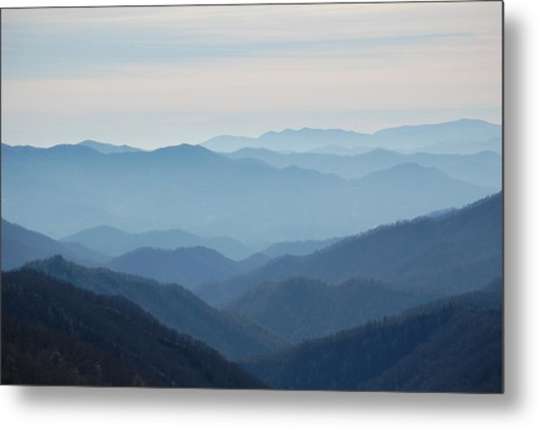 Blue Mountain Cascades Metal Print by Mary Anne Baker
