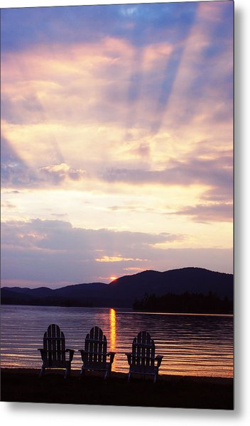 Blue Mountain Lake Ny Metal Print