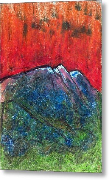 Blue Mountains Metal Print by Yuri Lushnichenko