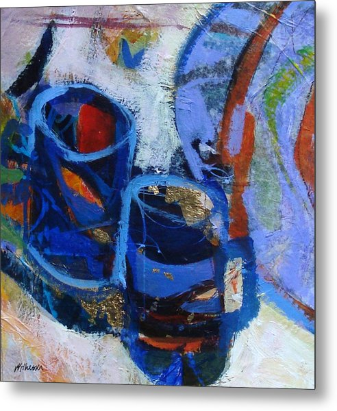 Blue Mugs Metal Print by Dale  Witherow