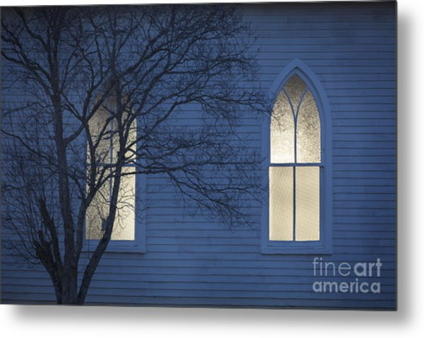 Blue Mulberry Metal Print