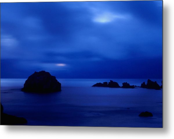 Blue Mystique Metal Print