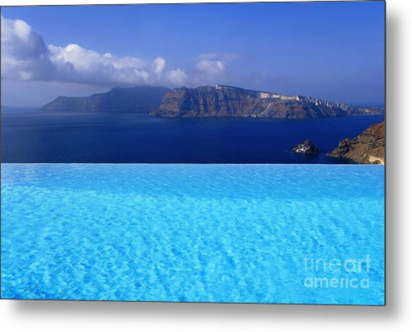 Blue On Blue Metal Print by Aiolos Greek Collections