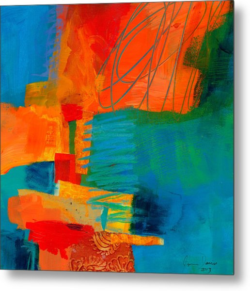 Blue Orange 2 Metal Print