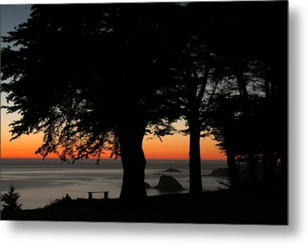 Blue Pacific At Sunset Metal Print