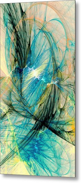 Blue Phoenix Metal Print