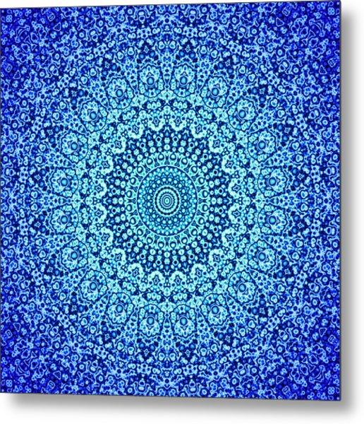 Blue Quasicrystal Metal Print