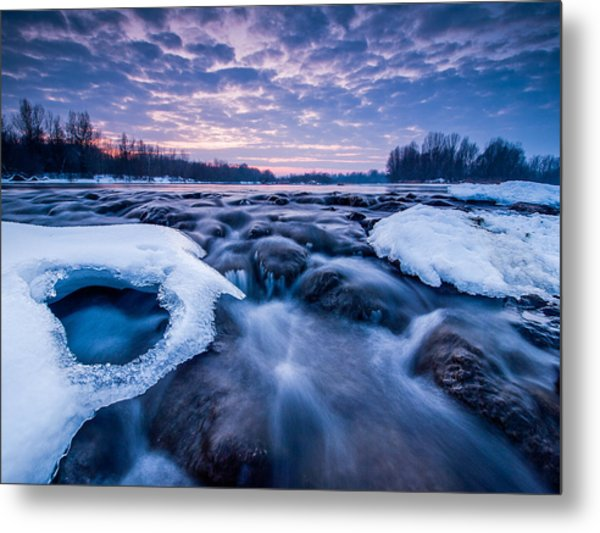 Blue Rapids Metal Print