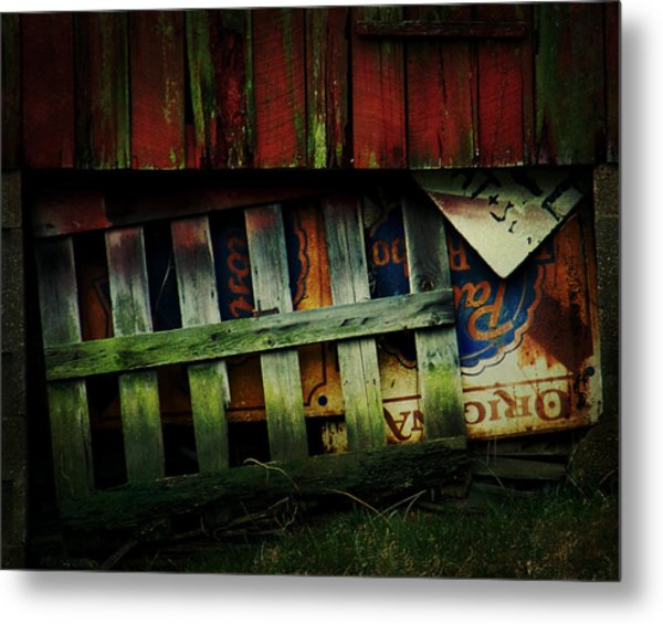 Blue Ribbon Landscape Metal Print
