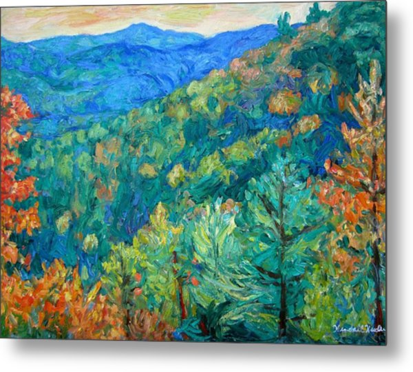 Blue Ridge Autumn Metal Print