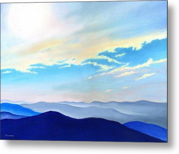 Blue Ridge Blue Above Metal Print