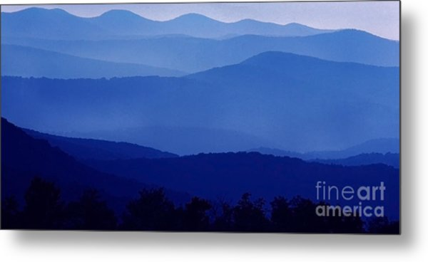 Blue Ridge Mountain Panoramic  Metal Print