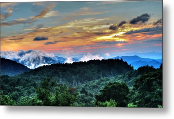 Blue Ridge Mountain Sunrise  Metal Print