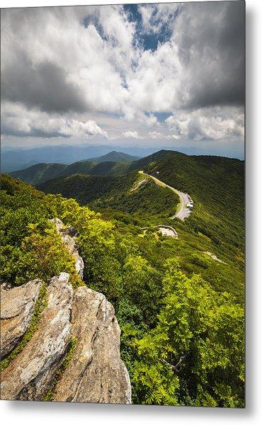 Blue Ridge Parkway Craggy Gardens Asheville Nc - Craggy Pinnacle Metal Print