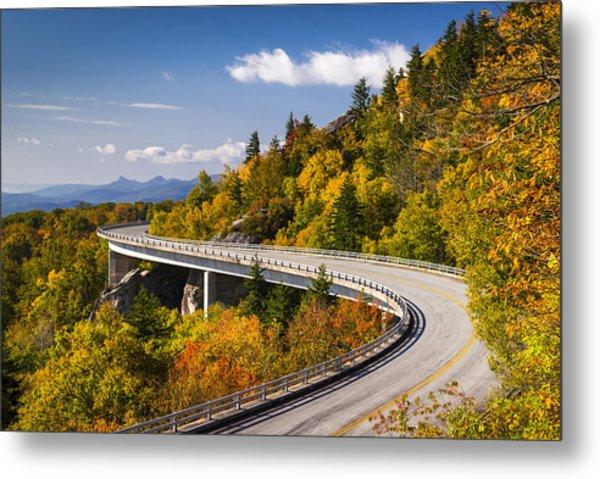 Blue Ridge Parkway Linn Cove Viaduct - North Carolina Metal Print
