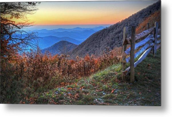 Blue Ridge Sunrise Metal Print