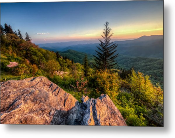 Blue Ridge Sunset Metal Print by Doug McPherson