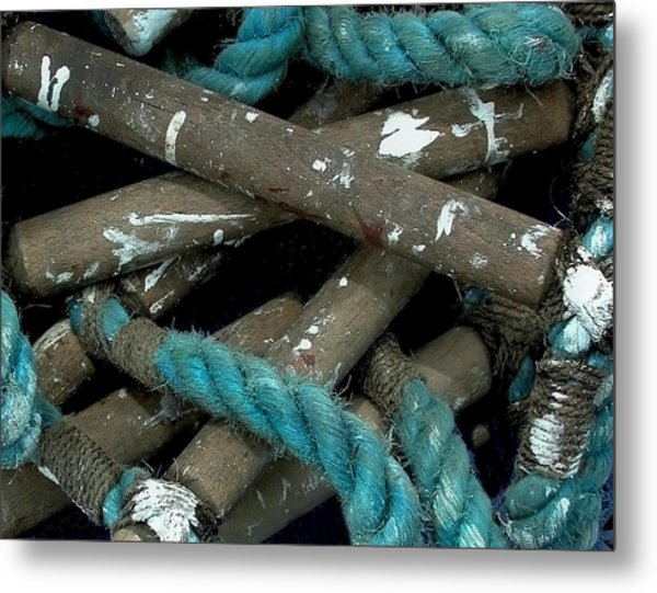 Blue Rope  Metal Print by Bill Marder