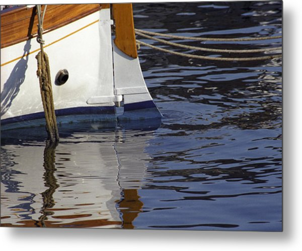 Blue Rudder Metal Print