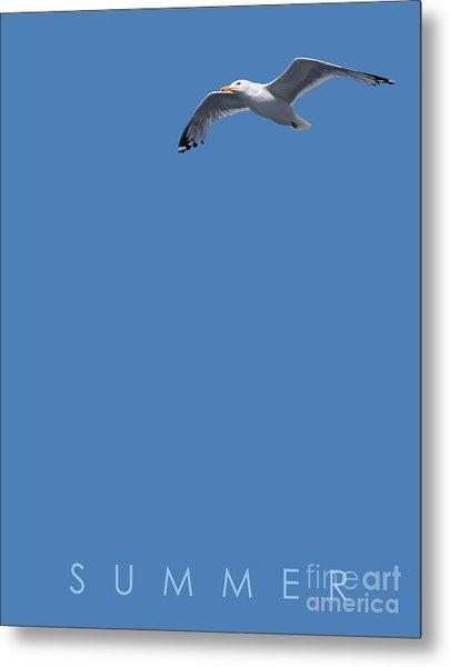 Blue Series 001 Summer Metal Print