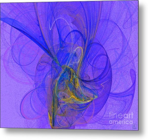 Blue Shell 2 Metal Print