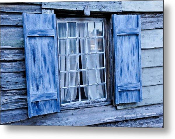 Blue Shutters Metal Print