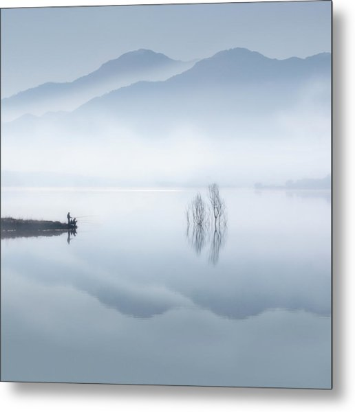 Blue Silence Metal Print