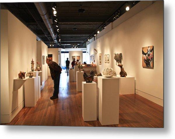 Blue Spiral Gallery In Asheville Metal Print