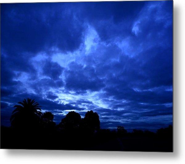 Blue Storm Rising Metal Print