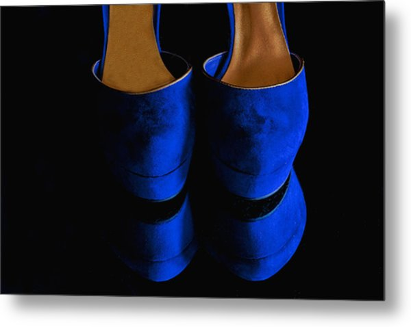 Blue Suede Shoes Metal Print