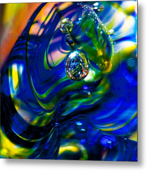 Blue Swirls Metal Print