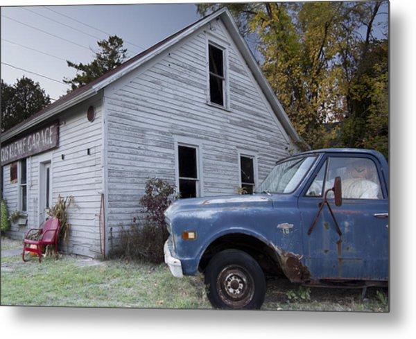 Blue Truck Metal Print by Jim Baker