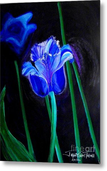 Blue Tulip Variation Metal Print
