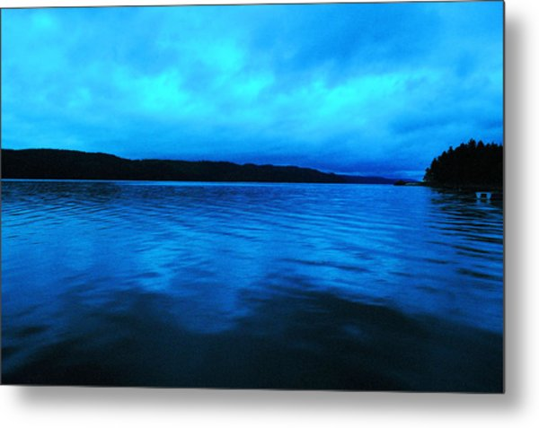 Blue Water In The Morn  Metal Print