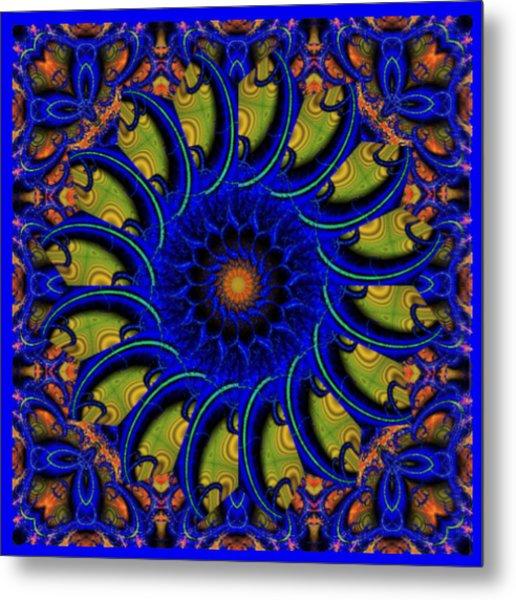 Blue Whirligig Metal Print