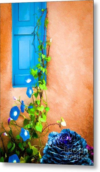 Blue Window - Painted Metal Print