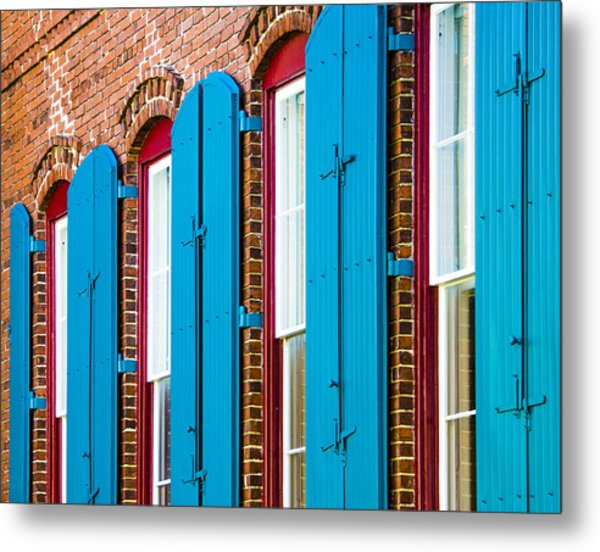 Blue Windows Metal Print
